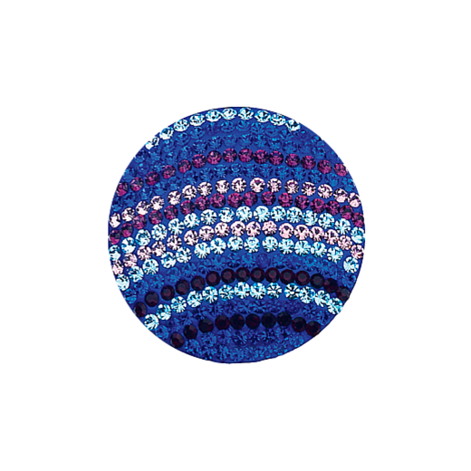 Virtue Keepsake 32mm Blue Striped Crystal Disc