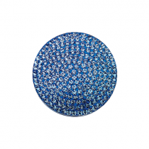 32mm Blue Topaz Crystal Disc - December