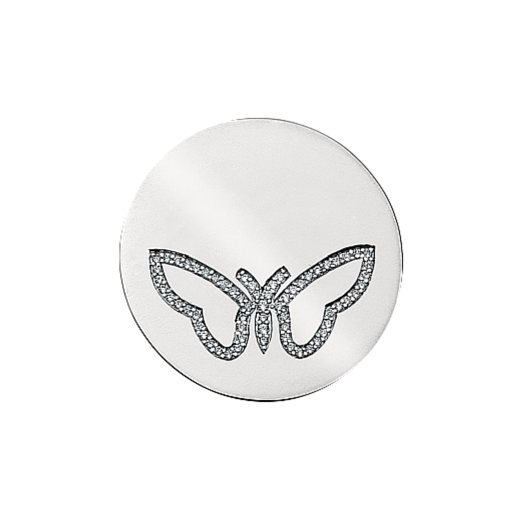Virtue Keepsake 32mm Butterfly Cubic Zirconia Disc