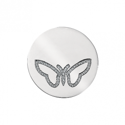 32mm Butterfly Cubic Zirconia Disc