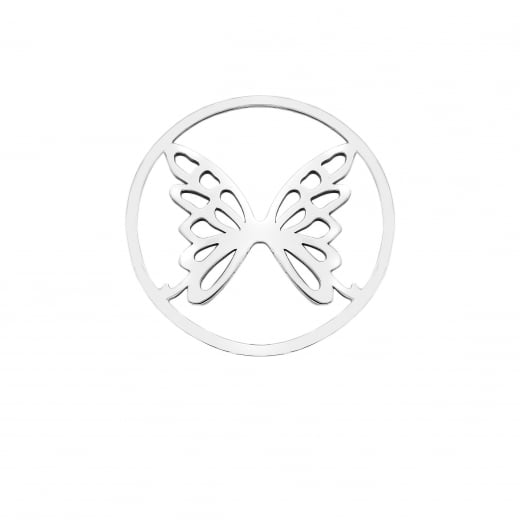 Virtue Keepsake 32mm Butterfly Silver Cut Out Disc