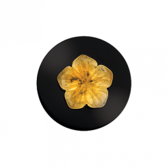 32mm Calcite Flower on Onyx Disc