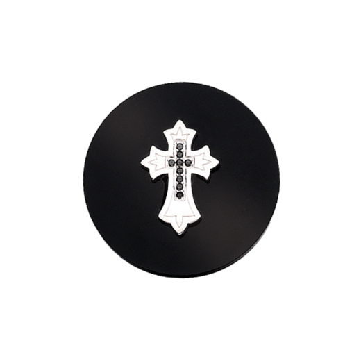 Virtue Keepsake 32mm Cross on Onyx Disc