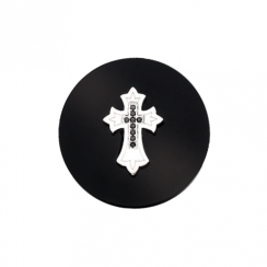 32mm Cross on Onyx Disc