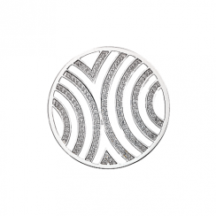 32mm Cubic Zirconia Fan Stripe Disc