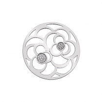 32mm Cubic Zirconia Rose Disc
