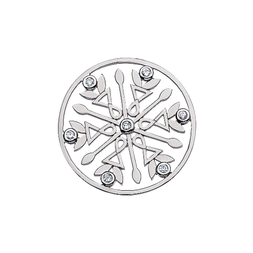 Virtue Keepsake 32mm Cubic Zirconia Snowflake Disc