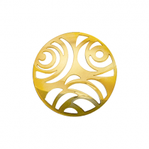 32mm Gold 3 Flower Cut Out Disc