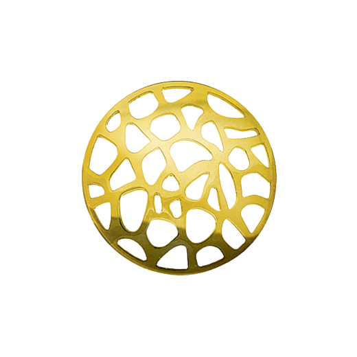Virtue Keepsake 32mm Gold Abstract Cut Out Disc