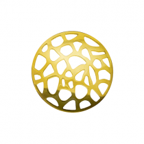 32mm Gold Abstract Cut Out Disc