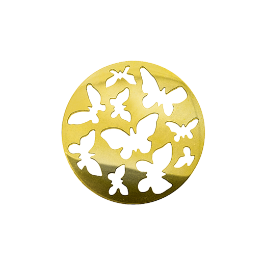 Virtue Keepsake 32mm Gold Butterfly Cut Out Disc