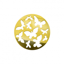 32mm Gold Butterfly Cut Out Disc
