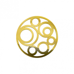 32mm Gold Circle Cut Out Disc