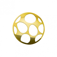 32mm Gold Egg Cut Out Disc