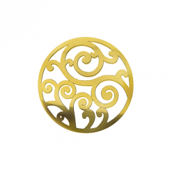 32mm Gold Filigree Cut Out Disc