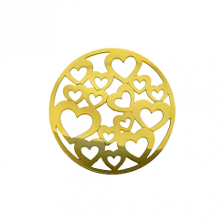 32mm Gold Heart Cut Out Disc