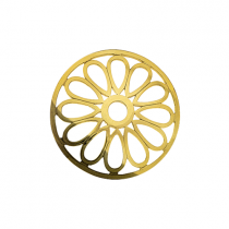 32mm Gold Large Petal Cut Out Disc