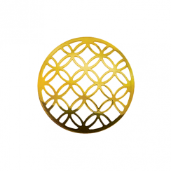 32mm Gold Lattice Cut Out Disc