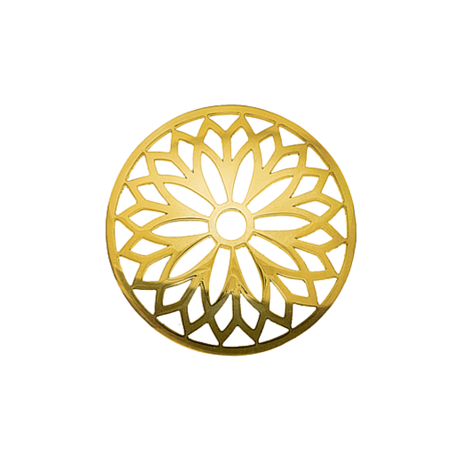 Virtue Keepsake 32mm Gold Layered Flower Cut Out Disc