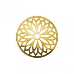 32mm Gold Layered Flower Cut Out Disc