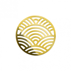 32mm Gold Rainbow Cut Out Disc