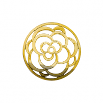 32mm Gold Rose Cut Out Disc