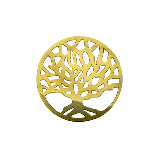 Virtue Keepsake 32mm Gold Tree Cut Out Disc