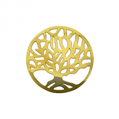 32mm Gold Tree Cut Out Disc