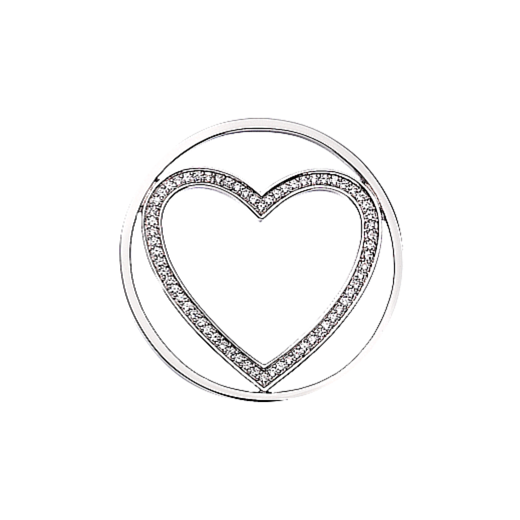 Virtue Keepsake 32mm Heart Cubic Zirconia Cut Out Disc