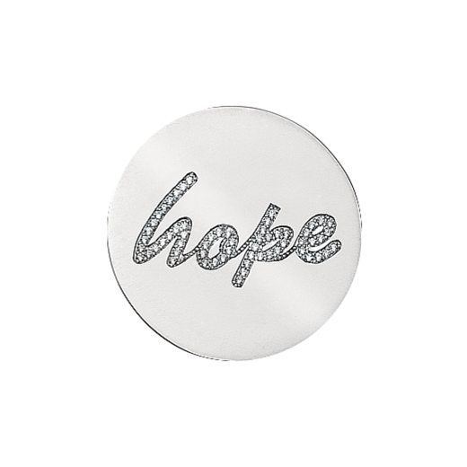 Virtue Keepsake 32mm Hope Cubic Zirconia Disc
