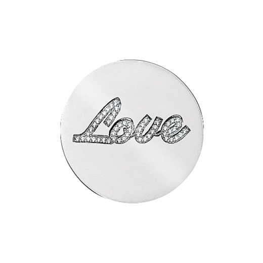 Virtue Keepsake 32mm Love Cubic Zirconia Disc