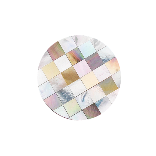 Virtue Keepsake 32mm Mother of Pearl Patchwork Disc