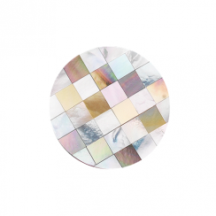 32mm Mother of Pearl Patchwork Disc