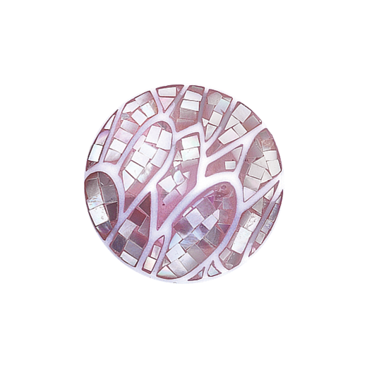 32mm Mother of Pearl Pink Wavy Disc