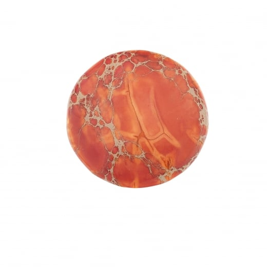 Virtue Keepsake 32mm Orange Jasper Stone Semi-Precious Disc