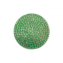 32mm Peridot Crystal Disc - August