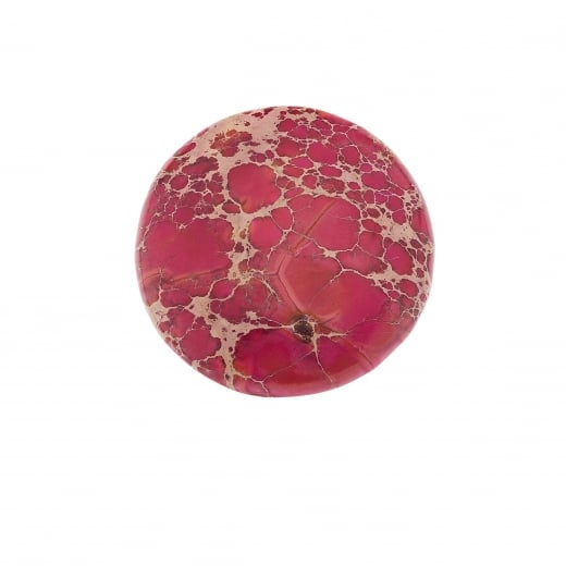 Virtue Keepsake 32mm Pink Jasper Stone Semi Precious Disc