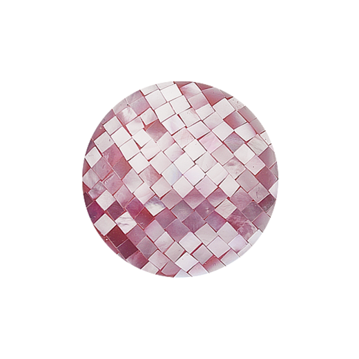 Virtue Keepsake 32mm Pink Mother of Pearl Mosaic Disc
