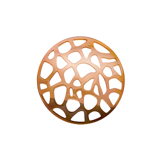Virtue Keepsake 32mm Rose Gold Abstract Cut Out Disc