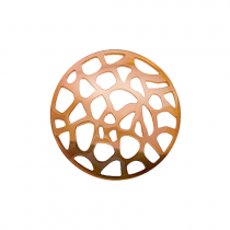 32mm Rose Gold Abstract Cut Out Disc