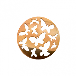 32mm Rose Gold Butterfly Cut Out Disc