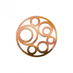 32mm Rose Gold Circle Cut Out Disc