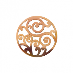 32mm Rose Gold Filigree Cut Out Disc