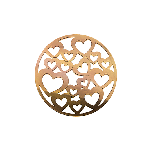 Virtue Keepsake 32mm Rose Gold Heart Cut Out Disc