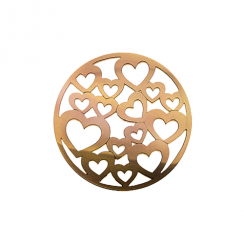 32mm Rose Gold Heart Cut Out Disc