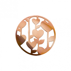 32mm Rose Gold Heart Leaf Cut Out Disc