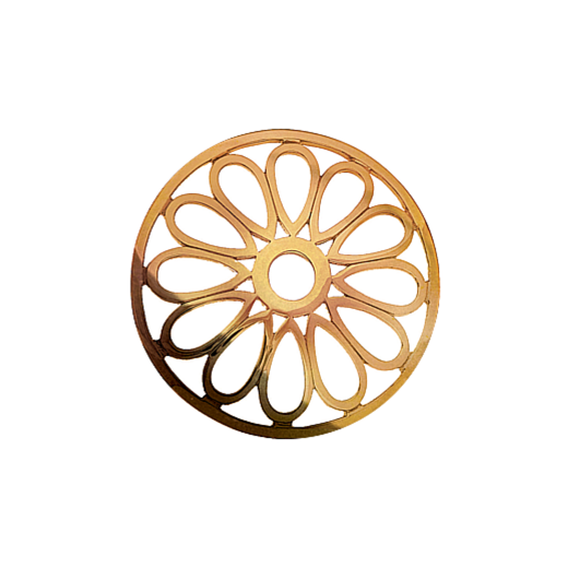 Virtue Keepsake 32mm Rose Gold Large Petal Cut Out Disc