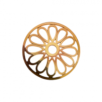 32mm Rose Gold Large Petal Cut Out Disc