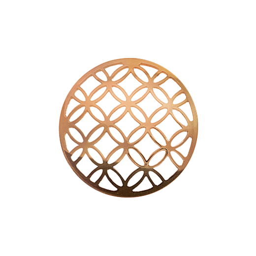 Virtue Keepsake 32mm Rose Gold Lattice Cut Out Disc