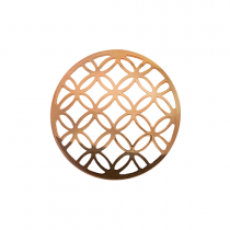 32mm Rose Gold Lattice Cut Out Disc